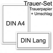 50 X Trauer Brief Set Din A5 C6 Bogen Mit Umschlägen Mit
