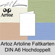 50 Artoz Papier Artoline Doppelkarten DIN A6 hoch 220g Farben Klappkarten