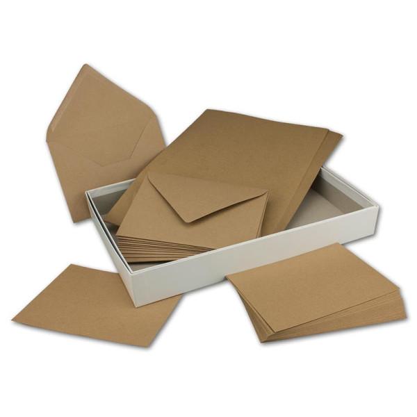 Hochwertige Aufbewahrungs- und Geschenkboxen 300 x 212 x 40 mm hochweiss bezogen 15 St/ück- DIN A4