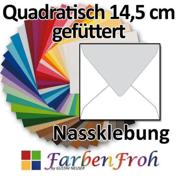 25 Quadratische transparente Querlasche Briefumschl/äge im hochwertigen Design Quadratische 125 x 125 mm 12,5 x 12,5 cm