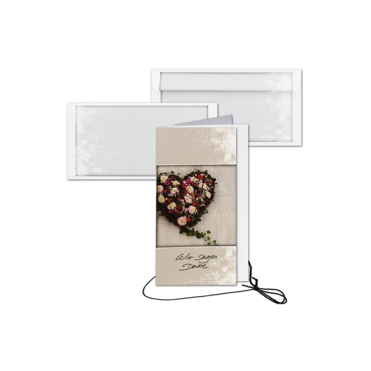 Trauer 50 Trauerkarten Danksagungskarten Mit Umschlag Danksagungen