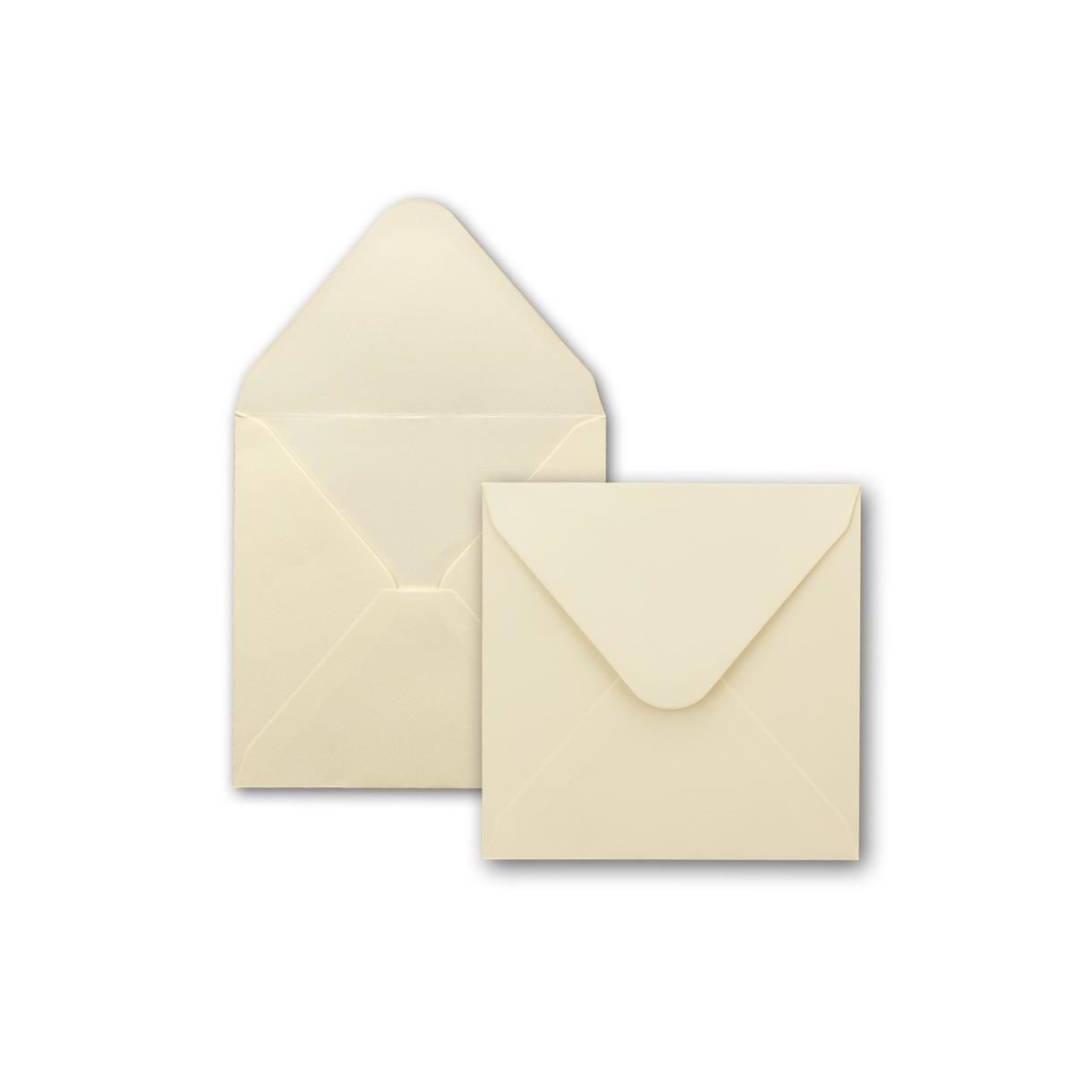 Recycling Vintage Karten-Set 75x Kraftpapier-Karten Set quadratisch 13,5 x 13,5 cm mit Brief-Umschl/ägen /& Einlege-Bl/ätter f/ür Einladungen