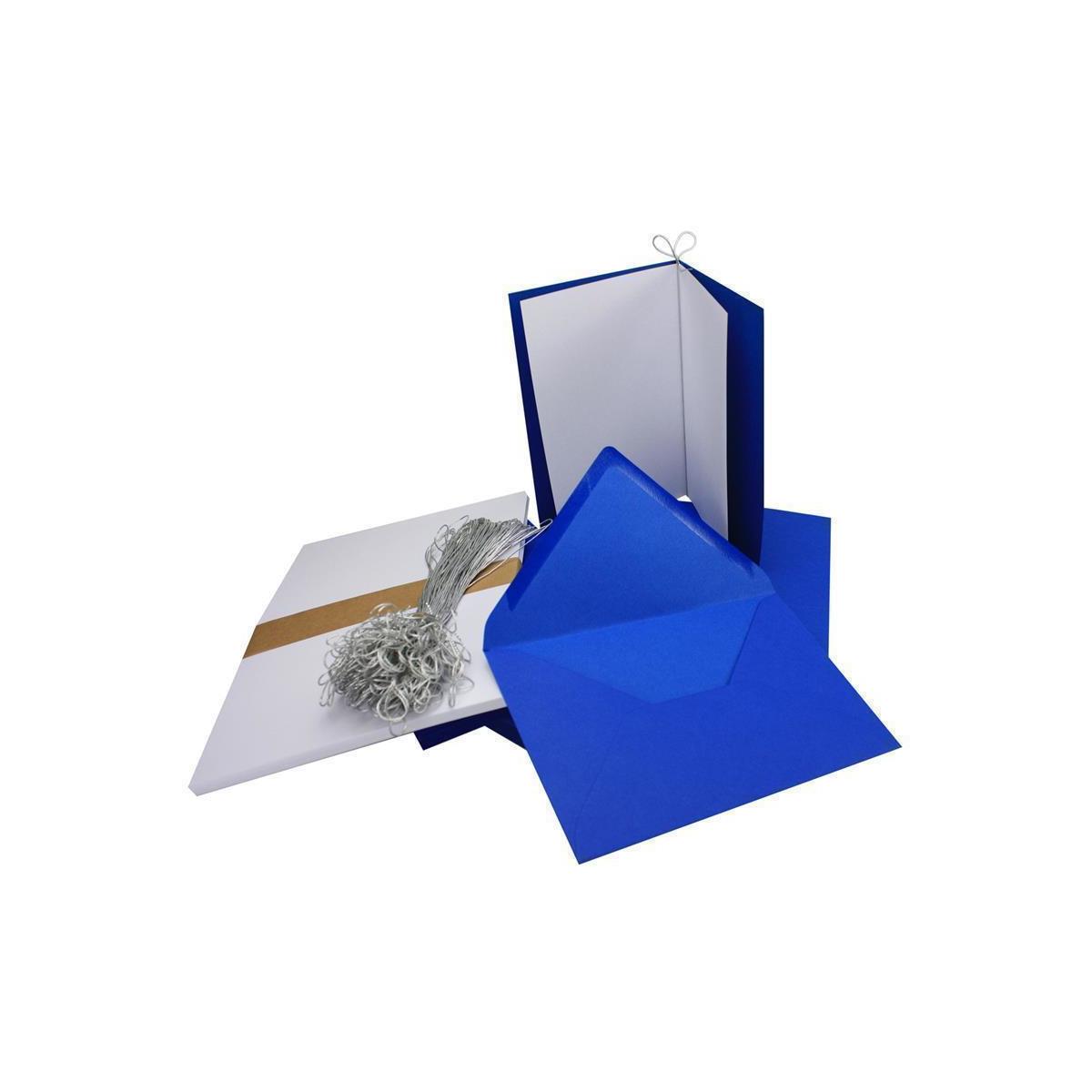 10 Doppelkarten Faltkarten B6 hellblau mit Kuverts