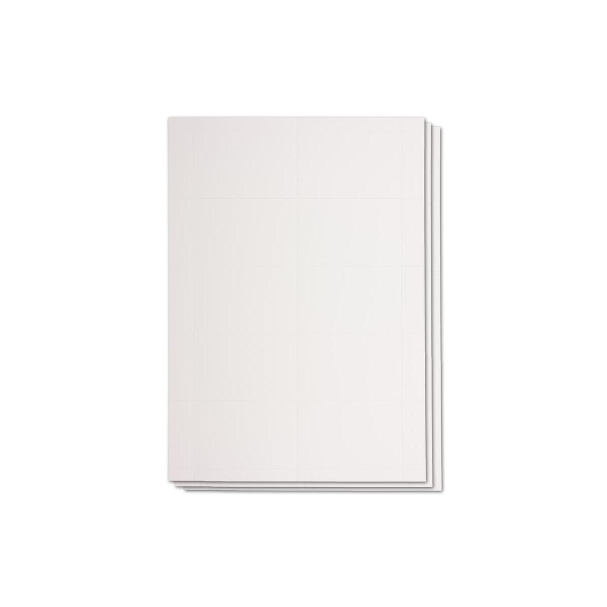 50x Din A7 Karten Mit Mikroperforation 55 X 85 Mm Hochweiss 240 G M Beidseitig Bedruckbar Für Visitenkarten Flaschenkarten