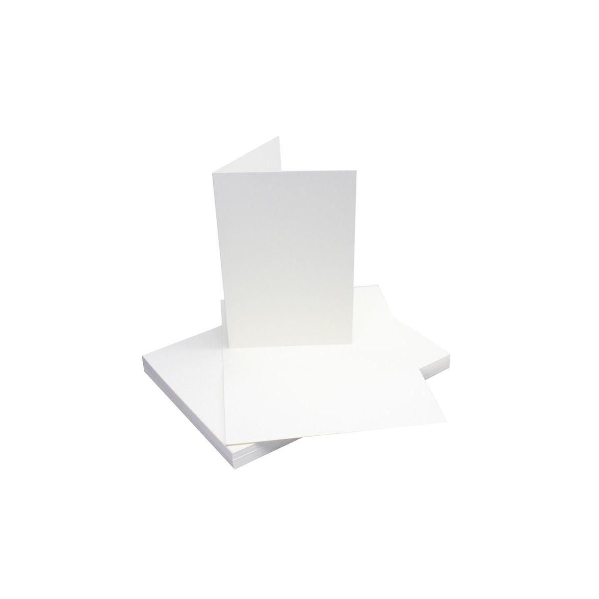 50 Doppelkarten Karten Klappkarten Faltkarten Din B6 Weiß Karten